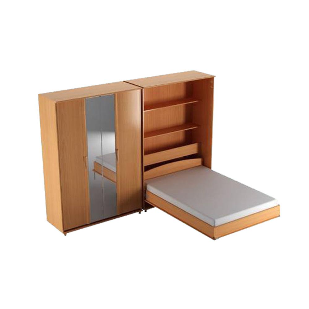 Откидная кровать трансформер с диваном горизонтальная